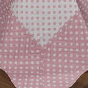 Kit: 1 Cobre-leito Casal Bouti de Microfibra Ultrasonic Estampada + 2 Porta-travesseiros - Dots Rosa Velho - Dui Design