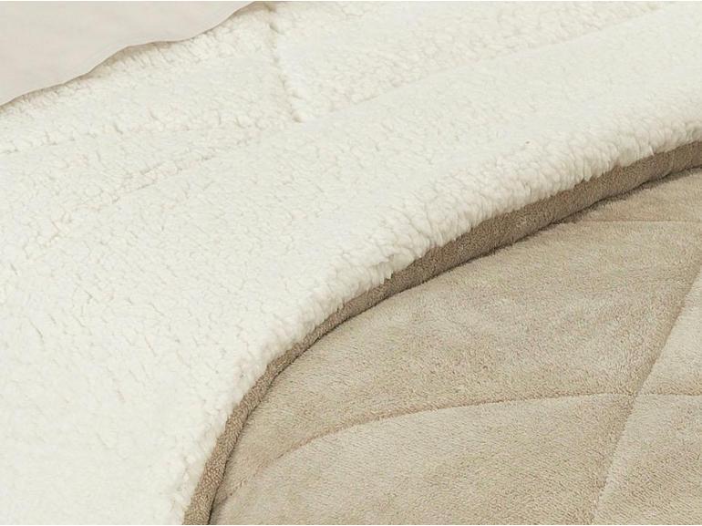 Edredom Queen Pele de Carneiro e Plush - Sherpa Madrid Bege - Dui Design
